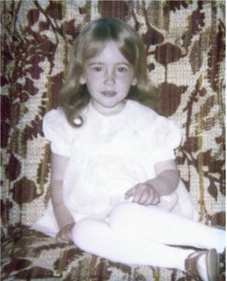 Kaeley in Mom's Dress